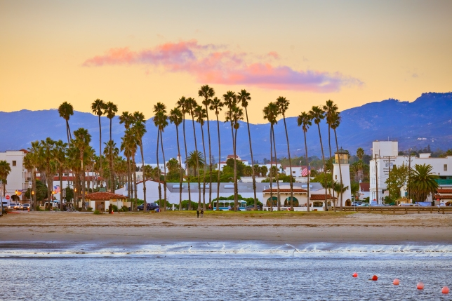 Santa Barbara from the pier
